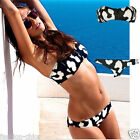 CelebStyle Zip Front Cow Printed  Bikini