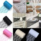 "6""x 25Yards Vintage Lace Roll Fabric Tulle Table Runner Chair Sash Wedding Decor"