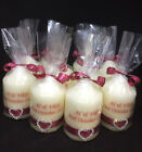 10 x Personalised wedding favour candles - Choose from 2 sizes