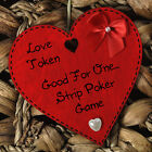 Love Vouchers Tokens Coupons Funny Red Wooden Heart Valentines Day Gift #1