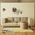 Home Is Where The Dog Is Vinyl Wall Decal Quote home paw print art sticker L173