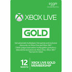 Microsoft Xbox LIVE 12 Month Gold Membership Card for Xbox 360 XBOX ONE