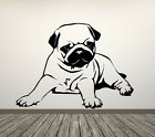 Pug Dog Pet Animal Cute. Wall Sticker Decal Art. Any Colour or size available.