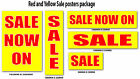 Red and Yellow Sale posters  for shop windows and retail advertising