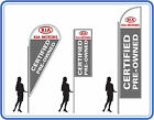 KIA certified pre owned cars flags ,great for dealerships - KIA banners UK 1
