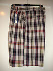 Men's Canterbury New Zealand Drift Shorts Plaid Multi Color Sandshell $78 NWT 38