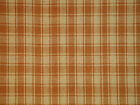 Light Brown Plaid Fabric | Cotton Homespun Fabric | Primitive Fabric