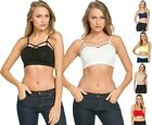 Strappy Caged Cutout Sports Workout Gym Yoga Bralette bustier Bra Top Stretch