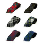 Mens Royal Stewart, Black Watch, Thompson Scottish Tartan/Plaid Tie - 100% Wool