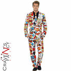 Comic Strip Stand Out Suits Mens Stag Do Party Fancy Dress Costume Outfit New
