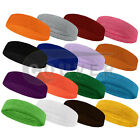 Couver Premium Quality Terry Solid Color Headband / Sweatband - 1 Piece