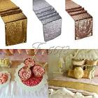 """Gold/Silver/Champagne Sequin Table Runner 12""""x108""""  Sparkly Wedding Party Decor"""