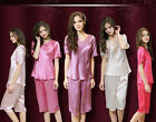 2017 Sleepwear 100% Natural Silk Women's Pajama Sets Nightgowns Sexy Soft Touch