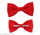 Chinese Red Clip On Bow Tie Choose Men / Boy / Toddler 3T 4T