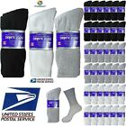 Lot of 3 6 12 Pair Men Physicians Choice Diabetic Crew Socks Health Cotton 10-13