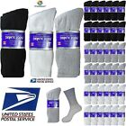 Lot of 3 6 12 Pair Men Loose Fit Diabetic Crew Socks Health Cotton 10-13