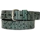 Liebeskind Berlin Women's Dark Green Leather Studded Belt 80CM 85CM NWT LKB24