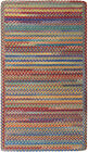 Capel Rugs Kill Devil Hill Wool Cross Sewn Braided Country Rug Bright Multi #950