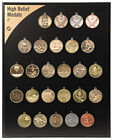 """25pc lot Sports Activity Medal 2"""" High-Relief Medals FREE SHIPPING"""