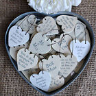 East Of India Tiny Miniature Wooden Heart Messages Gift Tags Signs Keepsakes