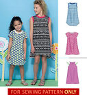 SEWING PATTERN! MAKE GIRLS RAGLAN SLEEVE DRESS! EASY TO DO! SIZE 3~6 OR 7~14!