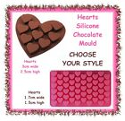 Hearts silicone chocolate ice moulds -CHOOSE YOUR STYLE- love valentines fondant