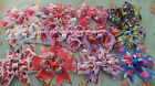 Handmade character bow clips peppa kitty Sofia toddler princess girls hairclips