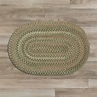 Colonial Mills Oak Harbour 100% Wool Area Braided Rug Green Multi Cabana OH68