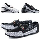 Fashion Comfy Mens shoes Driving Moccasin Loafer Casual Slip On Leather Shoes