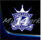 TONY STEWART 14 FOREVER PRINTED VINYL GRAPHICS DECAL STICKER 2 SIZES NASCAR