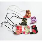 K345 P Mens Sexy String Thong adjustable Pouch Printed Strawberry Camo Maple