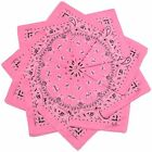 Hoodboyz Single-color Pack 10 Pcs Herren Bandana Pink Weiß(83381)