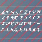 Klingon Alphabet Vinyl Decal / Sticker - Star Trek