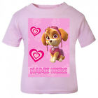 Paw Patrol SKYE Personalised Pink T-Shirt Age Size Top Kids Ryder cute Gift Idea