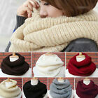 Soft Women Winter Warm Infinity  Cable Knit Cowl Neck Long Scarf Shawl Charm