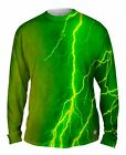 Yizzam- Lightning Storm Green Yellow - New Mens Long Sleeve Tee Shirt XS S M L