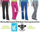 Med Couture MC2 8738 Skyler Flare Leg Scrub Pant Choose Size&Color FreeShipping!