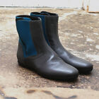 NEW Lanvin Grey Leather Boots with Turquoise Neoprene GENUINE RRP: £730 BNIB