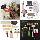 Wedding & Hen Night Photo Booth Props -Bridal Shower Fun & Games- Selfie Kit/Set