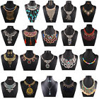 Women Jewelry Pendant Crystal Choker Chunky Statement Chain  Necklace Set