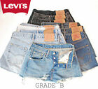 Vintage LEVIS Denim Shorts 501 High Waisted Hotpants 6 8 10 12 14 16 18  GRADE B