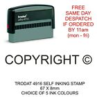 COPYRIGHT STAMP SELF INKING RUBBER RESTRICTED PROHIBITED COPY OF DOCUMENTS ETC