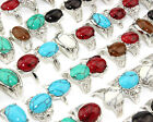 Wholesale Turquoise Gemstone Silver Plated Women Men Ring New Jewelry Size 6-10