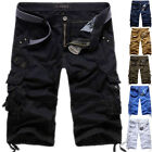 New Summer Men's Relaxed Slim Fit Cargo Shorts Cool Casual Pants Shorts