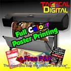 Gloss or Satin Poster Printing - Full Colour - A0 A1 A2 A3 A4 - 200gsm Paper