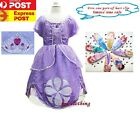 S1 Disney Sofia The First Princess Children Girl Kid Costume Fancy Dress Up 2-8y