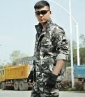 Multi Pocket cotton camouflage men's leisure suit Outdoor army fan coat trousers