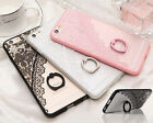 Luxury Relief Lace Design Cover With Kickstand Ring Case For iPhone 6 6S Plus
