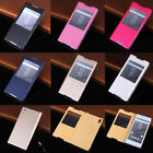 Fashion PU Leather Flip Stand  Case Window Multi-Colors  For Sony Xperia Mobiles