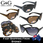 G&G Ladies Sunglasses Oval Shape Polarised Lens For Driving Black Brown Grey
